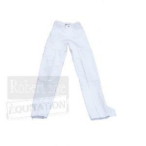 Pantalon imperméable long blanc TL0041B--